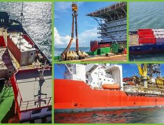 FLS PROJECTS MALAYSIA DECOMMISSIONING A DRILL-SHIP OFFSHORE.