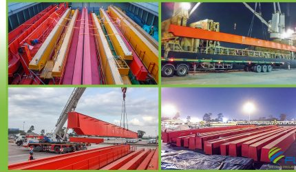 CRANE RAILS FROM SHANGHAI FOR AMATA CITY IN RAYONG, THAILAND.